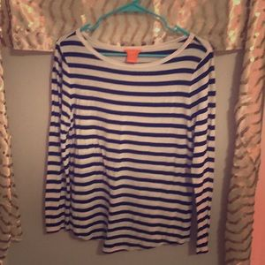 Striped long sleeved t
